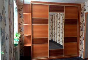 Комбинированный шкаф-купе от фирмы Абсолют, Омск.